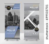 business roll up design... | Shutterstock .eps vector #699533701