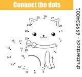 connect the dots children...   Shutterstock .eps vector #699534001