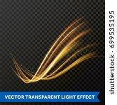 light line gold swirl effect.... | Shutterstock .eps vector #699535195
