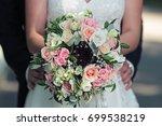 beautiful bright wedding... | Shutterstock . vector #699538219