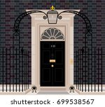exterior shot of 10 downing... | Shutterstock .eps vector #699538567