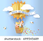 back to school 1 september card ... | Shutterstock .eps vector #699545689