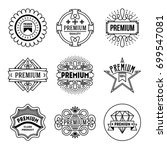 simple mono lines logos... | Shutterstock .eps vector #699547081