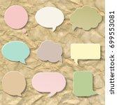 pastel speech bubble set | Shutterstock . vector #699553081