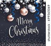 festive christmas banner. merry ... | Shutterstock .eps vector #699565069