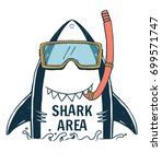 Shark Illustration With Typo...