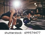 fit people are going to do... | Shutterstock . vector #699574477