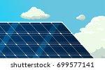 solar panels vector background | Shutterstock .eps vector #699577141