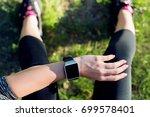 close up shot. sportive woman... | Shutterstock . vector #699578401