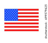 american flag icon | Shutterstock . vector #699579625