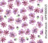 decorative watercolor seamless... | Shutterstock . vector #699580015