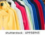 colourful textile sport shirts... | Shutterstock . vector #69958945
