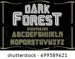 script handcrafted vector... | Shutterstock .eps vector #699589621