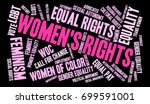 womens rights word cloud on a... | Shutterstock .eps vector #699591001