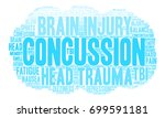 concussion word cloud on a... | Shutterstock .eps vector #699591181