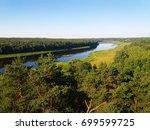 view of river daugava in sunny... | Shutterstock . vector #699599725