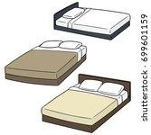 vector set of bed | Shutterstock .eps vector #699601159