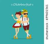 oktoberfest beer festival. man... | Shutterstock .eps vector #699601561