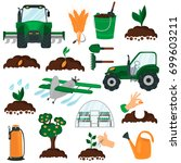 agriculture color flat icons... | Shutterstock .eps vector #699603211