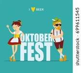 oktoberfest beer festival. man... | Shutterstock .eps vector #699611545