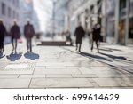 crowd of anonymous people... | Shutterstock . vector #699614629