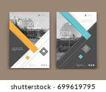 white  black brochure mockup.... | Shutterstock .eps vector #699619795