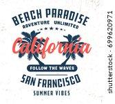 vintage california t shirt for... | Shutterstock .eps vector #699620971