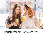 lovely ladies wears similar... | Shutterstock . vector #699625891
