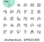 set of business and marketing...   Shutterstock .eps vector #699631405