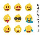 nine emojis set  icon for... | Shutterstock .eps vector #699634459