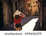 tourist girl  traveling ... | Shutterstock . vector #699636259