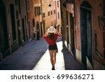 tourist girl  traveling ... | Shutterstock . vector #699636271
