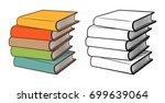 Stacks Of Books. Stylized...