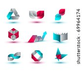 business design elements   icon ... | Shutterstock .eps vector #69964174