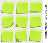 sticky note with shadow... | Shutterstock .eps vector #699642235