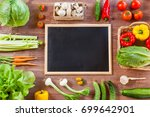 healthy organic vegetables.... | Shutterstock . vector #699642901