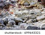 ancient stone wall of medieval... | Shutterstock . vector #699643321