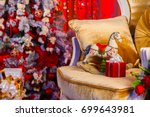 new year's interior. gifts for... | Shutterstock . vector #699643981