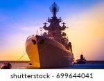 Sea convoy. Warships. Submarine.