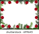 Christmas framework - stock photo