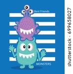 monsters illustration design  ... | Shutterstock .eps vector #699658027