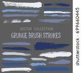 grunge paint brush stroke... | Shutterstock .eps vector #699660445