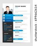 personal resume. modern... | Shutterstock .eps vector #699662614
