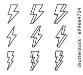 thunder  thunder vector ... | Shutterstock .eps vector #699664714