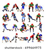 american football players in... | Shutterstock .eps vector #699664975