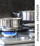 fire of a kitchen gas | Shutterstock . vector #699665539