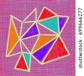 hand drawn polygonal background. | Shutterstock . vector #699666277