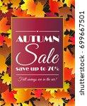 autumn sale poster  flyer  card ... | Shutterstock .eps vector #699667501
