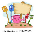 illustration of shovel ... | Shutterstock .eps vector #699678385