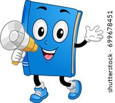 illustration of a book mascot... | Shutterstock .eps vector #699678451